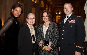 Collett Holt, Kay Smith, Julia Smith and Major Robert Bland, ILNG