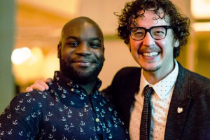 Playwrights Ensemble member Ike Holter and Joel Ewing