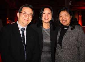 Ben Lau, Theresa Mah and Grace Chan