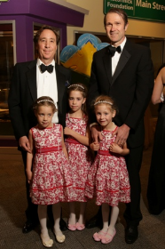 Stephen Kohl and Mark Tilton with daughters Abigail, Elizabeth and Nina Tilton-Kohl