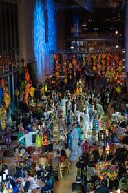 Colorful gala scene