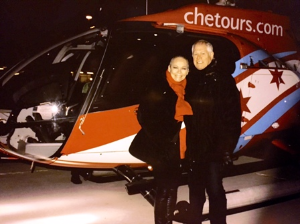 With Chuck in front of a CHETours EC130, seats 6