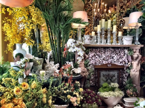 Dramatic display at Floral Emporium--West Palm Beach.