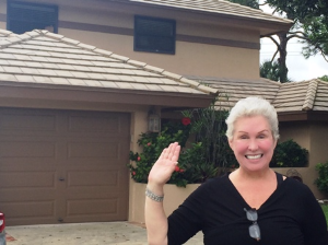 Rhonda Sanderson at her new home in Boca