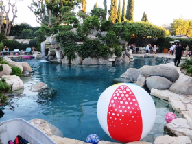 Hef's cool pool where the famous Grotto resides