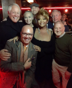 With Chuck, Maya Douglas, Ken Norgan, Greg Hyder, Jim Smith, Matt Olaveson and performer Maya Douglas.