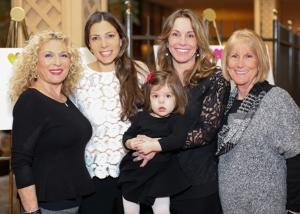 Sarah Gertzman, Sherri Hoke, Jen with daughter Ellory Hanau and Brenda Bobe