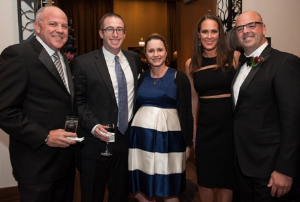 Foundation president Ken Hoffman, Adam and Alicia Ginsburgh and Benagh and Josh Newsome