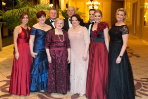 Dr. Kornelia Krol (3rd from R, front) surrounded by colleagues