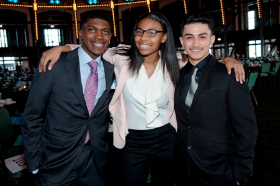 Youth of the Year finalists Temaris Dennis, Aeriel Burtley and Christian Ortega
