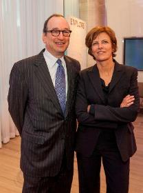 Deputy Mayor Steve Koch and Jeanne Gang