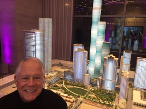 Art before Art--Chuck in front of Vista model in Lakeshore East.