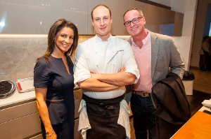 Marion Brooks, Chef Dave Bergan and Todd Woolman