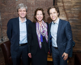 Alex Gourlay (Walgreen's president and WE Day Illinois co-chair), Lynne Doughtie and Criag Kielburger