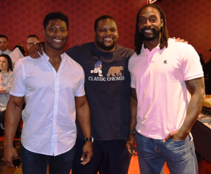"Jerry Azumah, Anthony Adams and Charles ""Peanut"" Tillman"