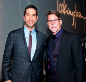 Co-founder and ensemble member David Schwimmer and Rick Bayless