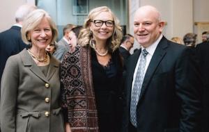 Janis Notz, Susan Whiting and Robert Holland