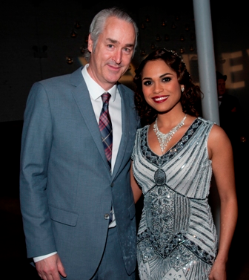Gala co-hosts Philip R. Smith and Monica Raymund