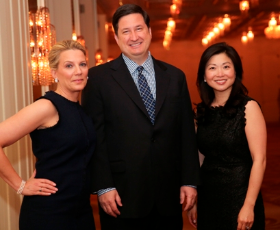 Event co-chairs Katie Barber, Vince Cozzi and Peggy Lim