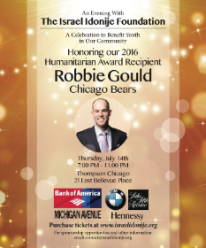 July 14 Robbie Gould honor for Idonije fndtn.