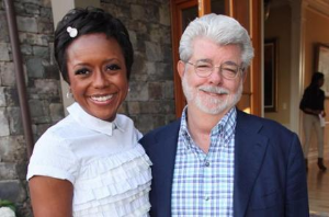 Mellody and George Lucas