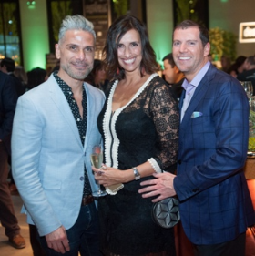 David Murga, Kelly Butler and event host Tom Kehoe