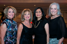 Co-Chair Linda Krivkovich, Board Chair Joan Clifford, Women's Board Pres. Swati Mehta and Co-Chair Susan Wislow