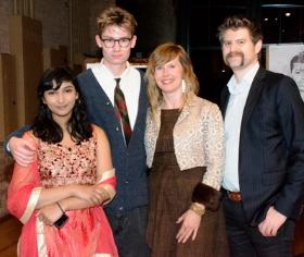 ChiArts students Srniidi Gopal, Sam Kenndy, Whitney Bradshaw, Michael Smith