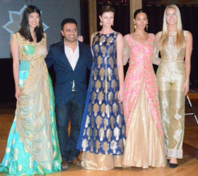 Bhavesh Patel with models