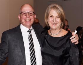 Gary Wood and honoree Harriet Meyer