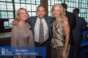 Christie Hefner (R) and Melissa Bean, OMD Board, Vice Chair and Michael Golden, OMD co-founder