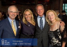 John Gross (L), Caroline Grossinger, William Kirsch and co-chair Deb Gross (R).