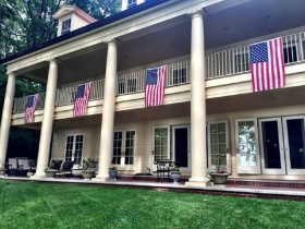Displaying American pride at a great party in Michigan