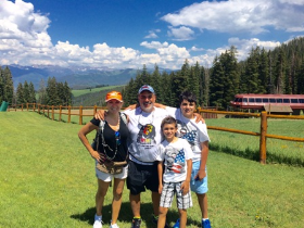 The Weller family (Tina, Jeff and kids) in Beaver Creek