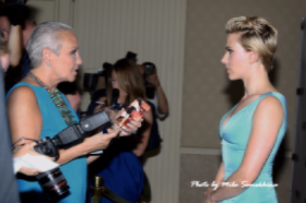 Interviewing ScarJo, such a thrill!