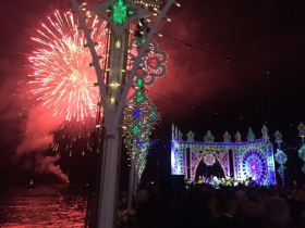 Fireworks over the Bay of Napoli as Gypsy Kings serenaded D & G guests