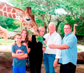 Feeding giraffes with Elizabeth, Xander and Dave Lawlor and Chuck. So exciting!