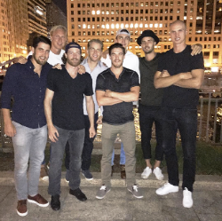 Andrew Shaw going away party at Chicago Cut