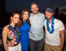 Fox 32's Jenny Milkowski, NBC's Marley Kayden, KISS FM's Fred and Jared Hoffa