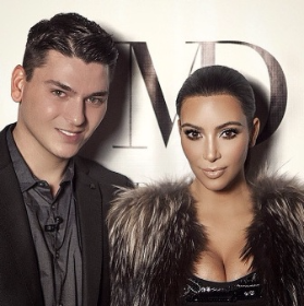 Mario Dedivanovic and his muse, Kim Kardashian West