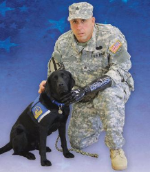 Canine Companions for Independence veteran grad Sam Cila and Service Dog Gillian