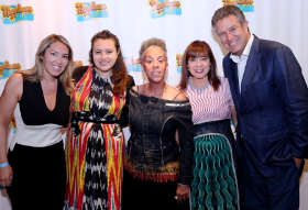 Maggie Brown (center) with (L to R) Haley, Elana and event co-founders Maureen and Marc Schulman