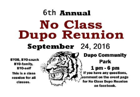 "Dupo High School ""No Class Reunion"" on 9/24"
