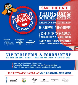 Jackson Chance Ping Pong Ball will be at Hard Rock Hotel on October 27