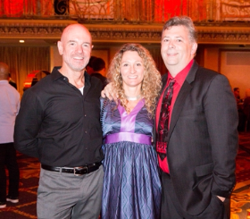 Giordano Dance Chicago Executive Director Michael McStraw, Carry Hanson and HMS Media's/DFL Honoree Scott Silberstein