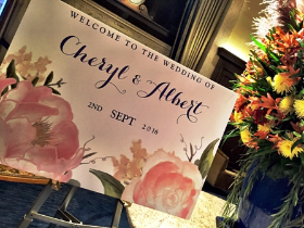 Cheryl and Albert Grace's reception begins at the Drake Hotel