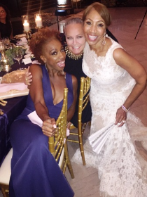 With motivational speaker/author Lisa Nichols and the beautiful bride!