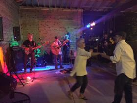 Carolyn Teeter and Rod Lavender dancing to Boulderdash