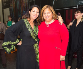 3Arts Awards host committee co-chairs Angelique Power and Michelle T. Boone