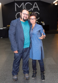 William Estrada (2016 3Arts Community Awardee) with Fawzia Mirza (2015 3Arts Awardee)